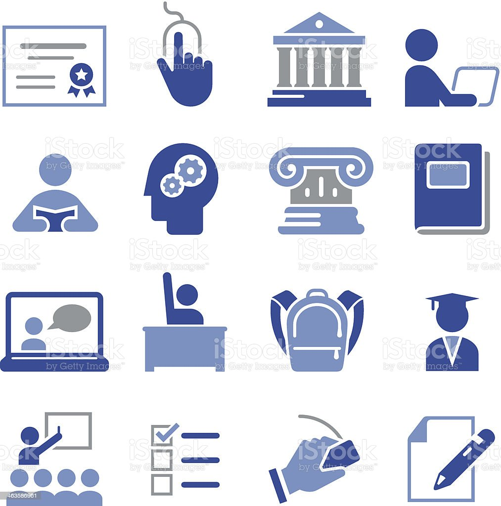 Education Icons - Pro Series royalty-free stock vector art