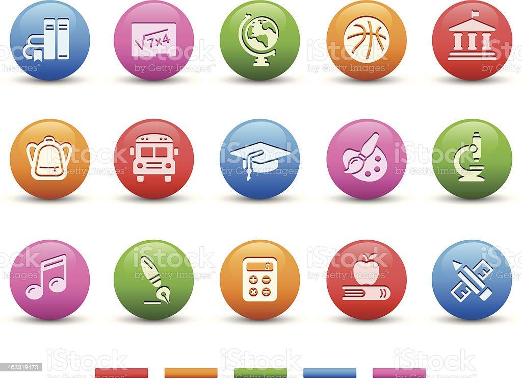 Education Icons | Satin Series vector art illustration