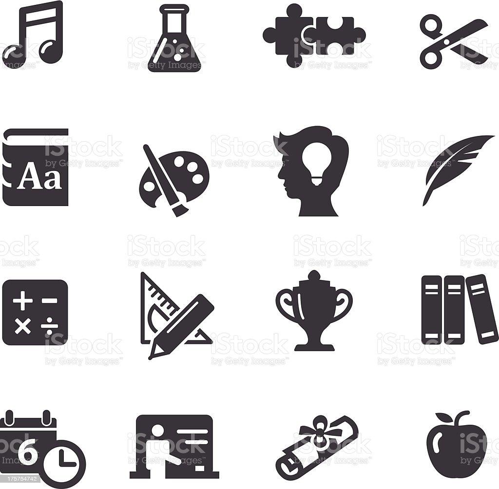 Education Icons Set 2-Acme Series vector art illustration