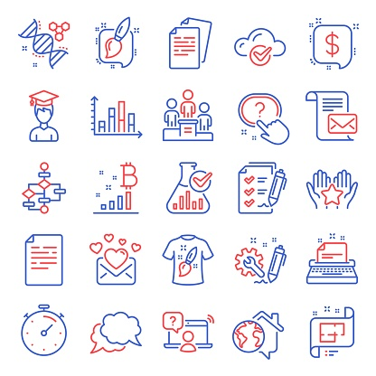 Education icons set. Included icon as Diagram graph, Business podium, Mail letter. Vector