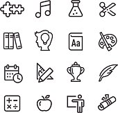 Education Icons Set - Line Series