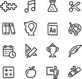 Education Icons Set - Line Series
