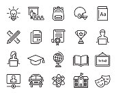 Vector illustration of the educations icons set.