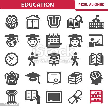 istock Education Icons 1044869908