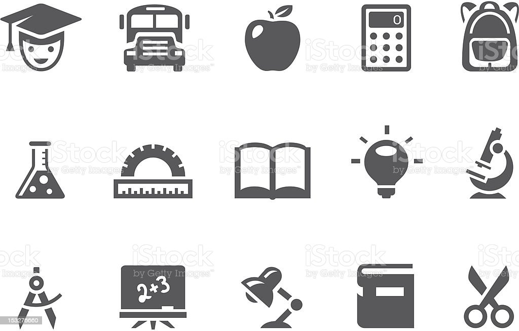 Education icons royalty-free stock vector art
