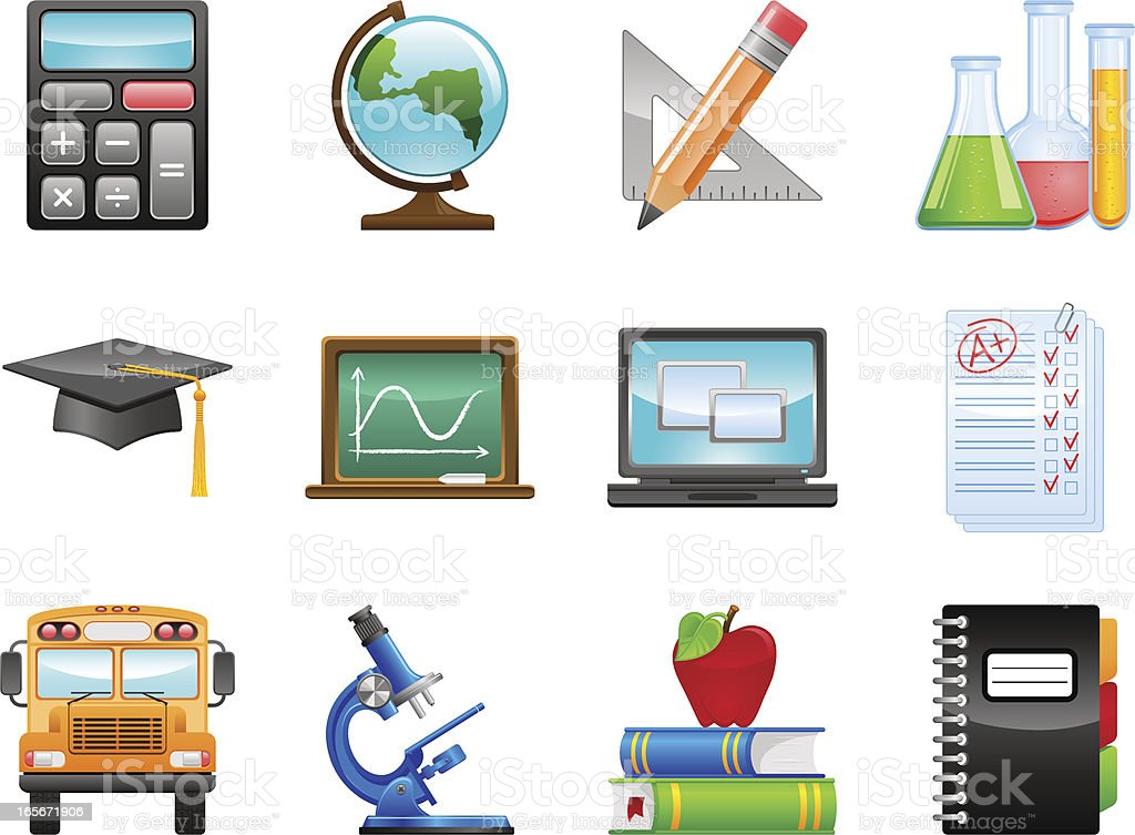Education icons royalty-free education icons stock vector art & more images of blackboard