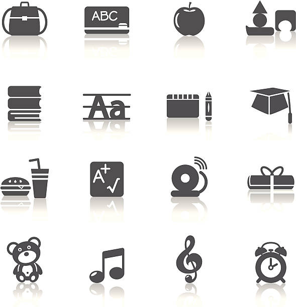 Education Icons A collection of different kinds of education icons. It contains hi-res JPG, PDF and Illustrator 9 files. alphabet clipart stock illustrations