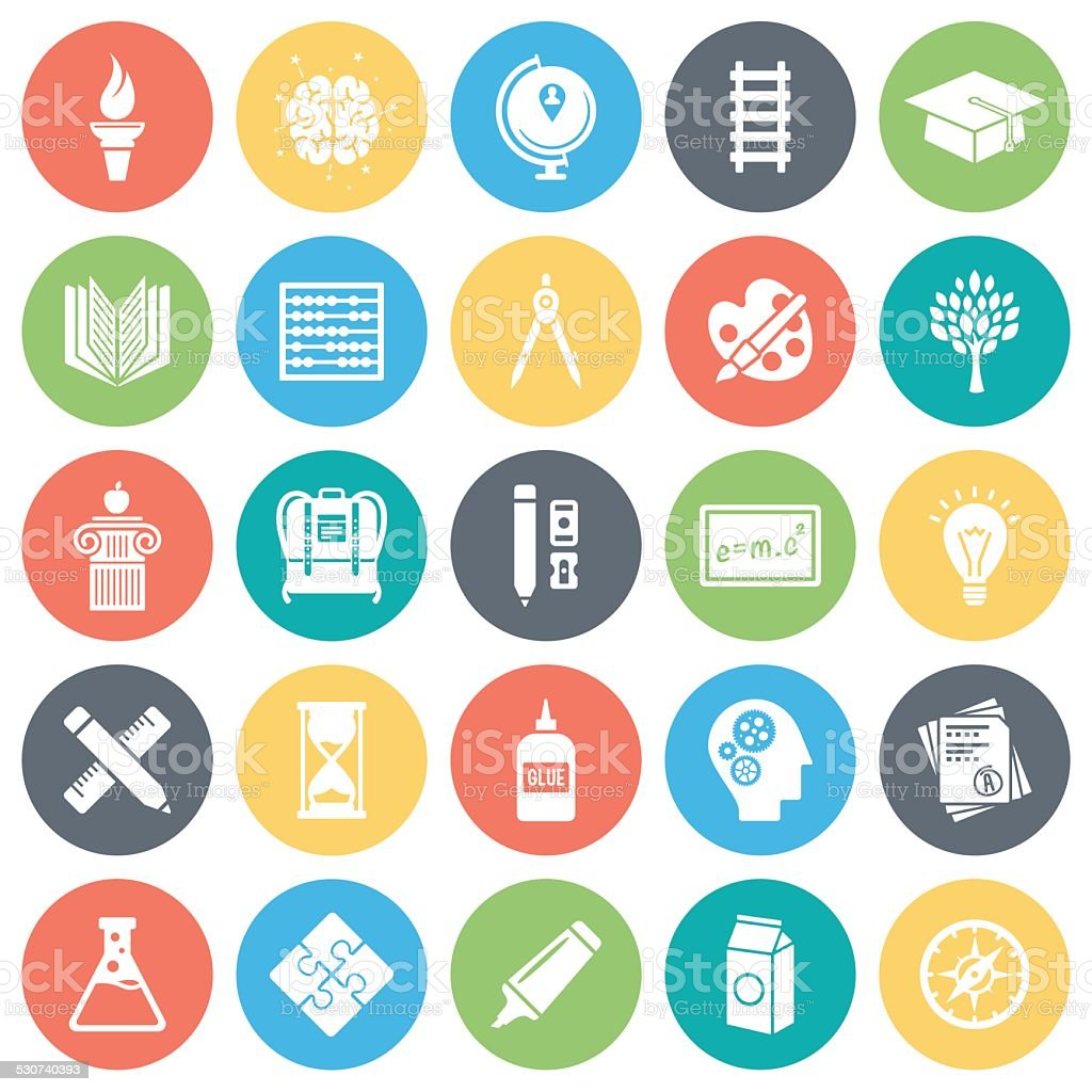 Education Icons vector art illustration