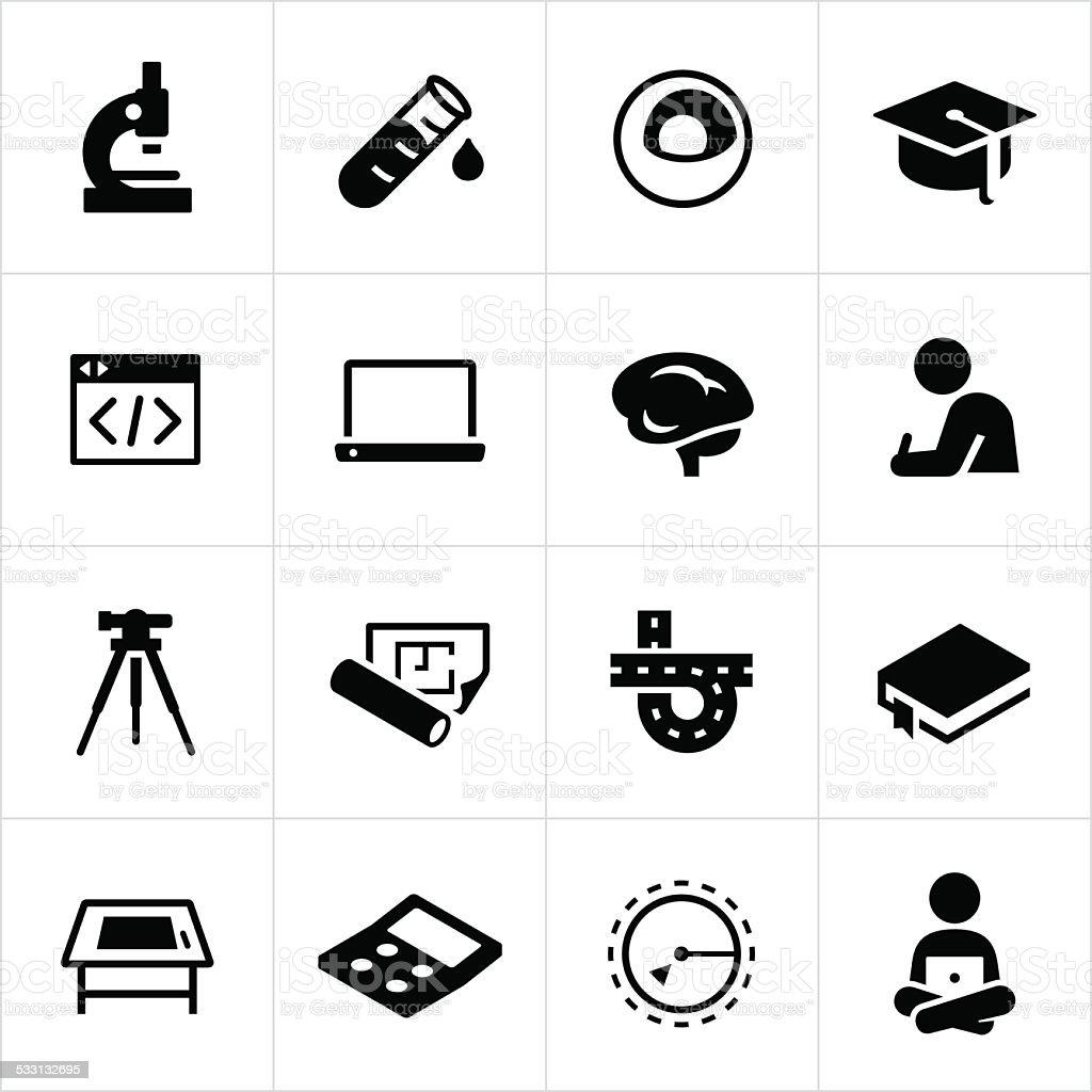 STEM Education Icons vector art illustration