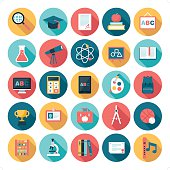 A set of 25 education related icon set. Icons are grouped individually.