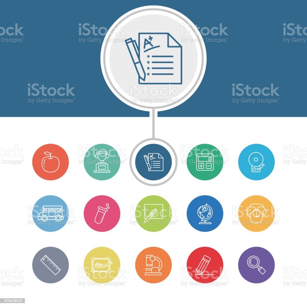 Education icons royalty-free education icons stock vector art & more images of apple - fruit