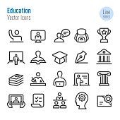 Education Icons - Vector Line Series