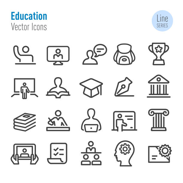 Education Icons - Vector Line Series Education, campus stock illustrations