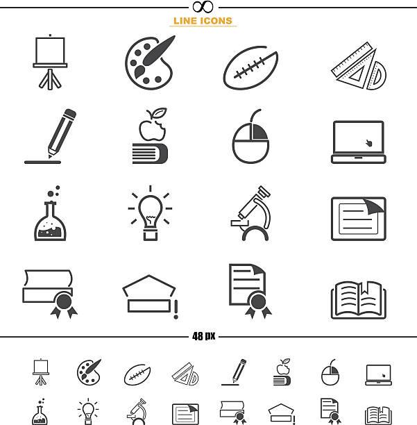 edukacja ikony wektor - back to school stock illustrations