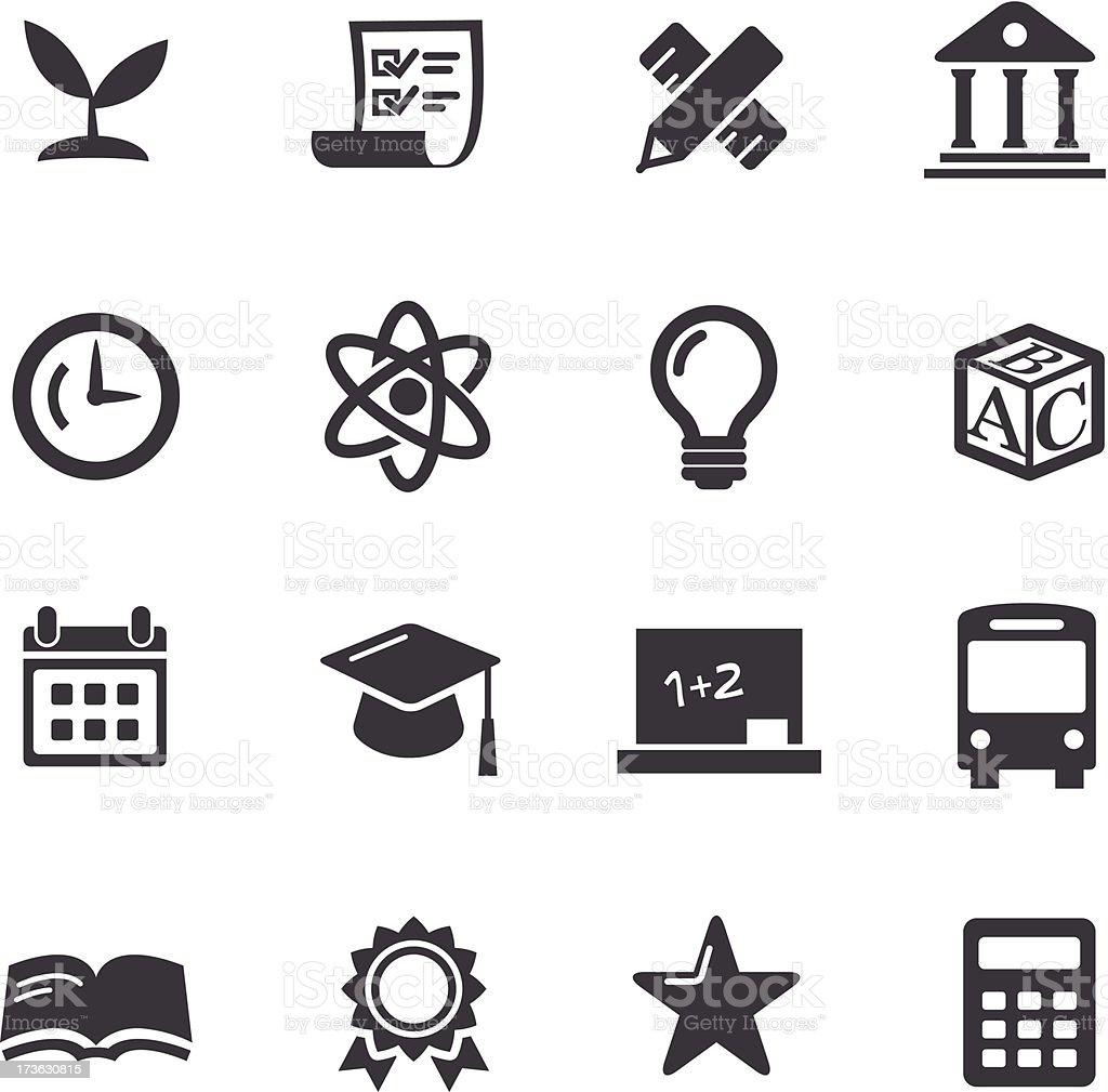 Education Icons-Acme Series vector art illustration