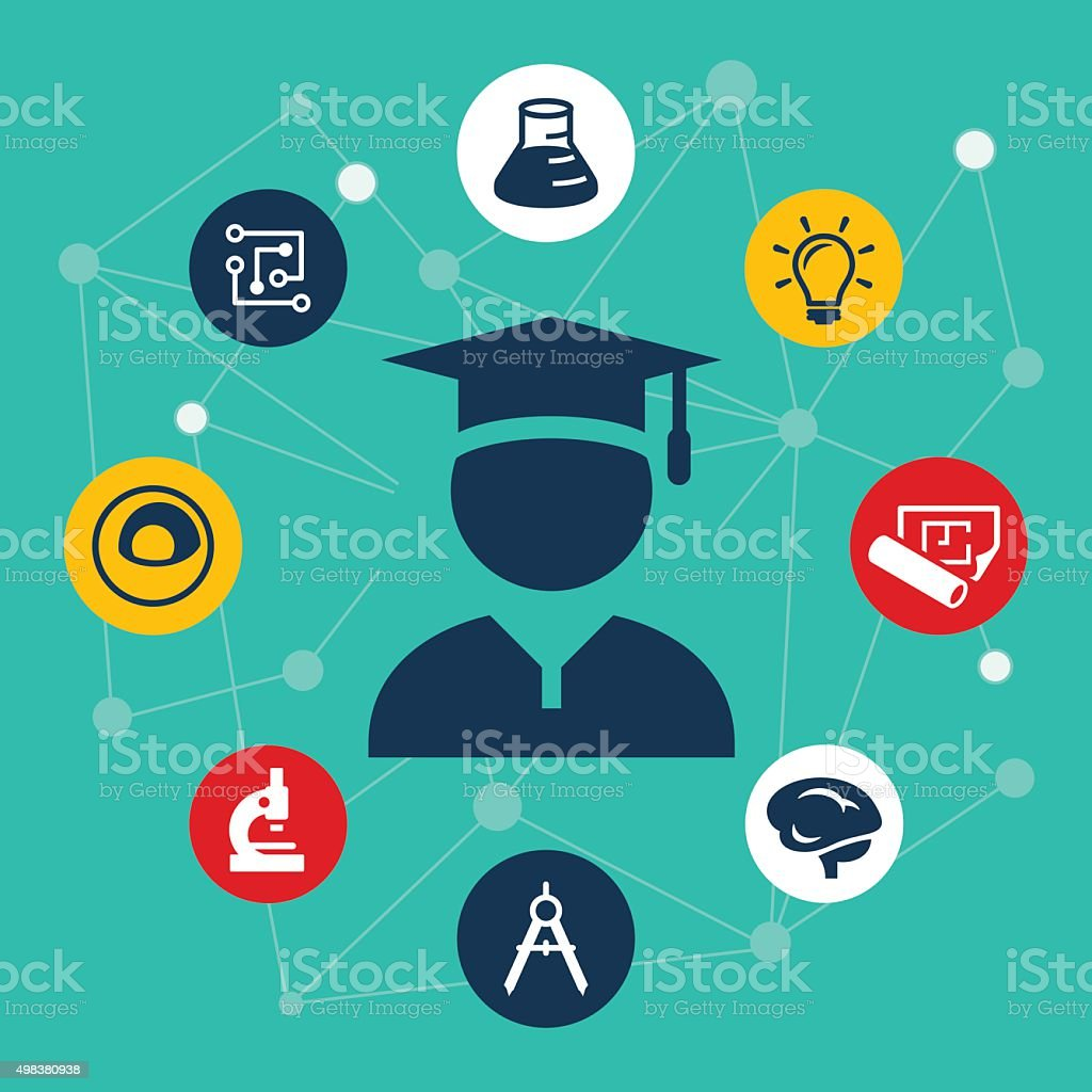 STEM Education Illustration vector art illustration