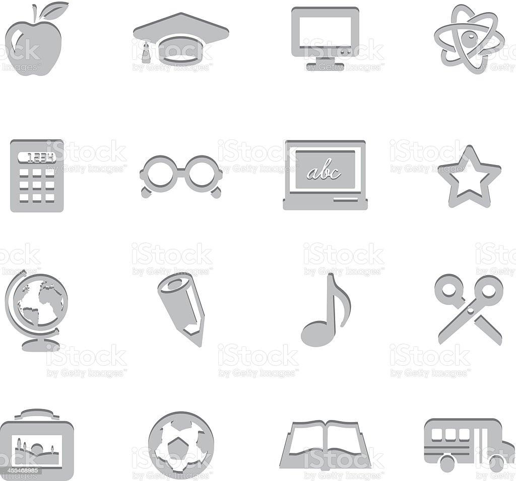 Education Imprint Symbols royalty-free stock vector art