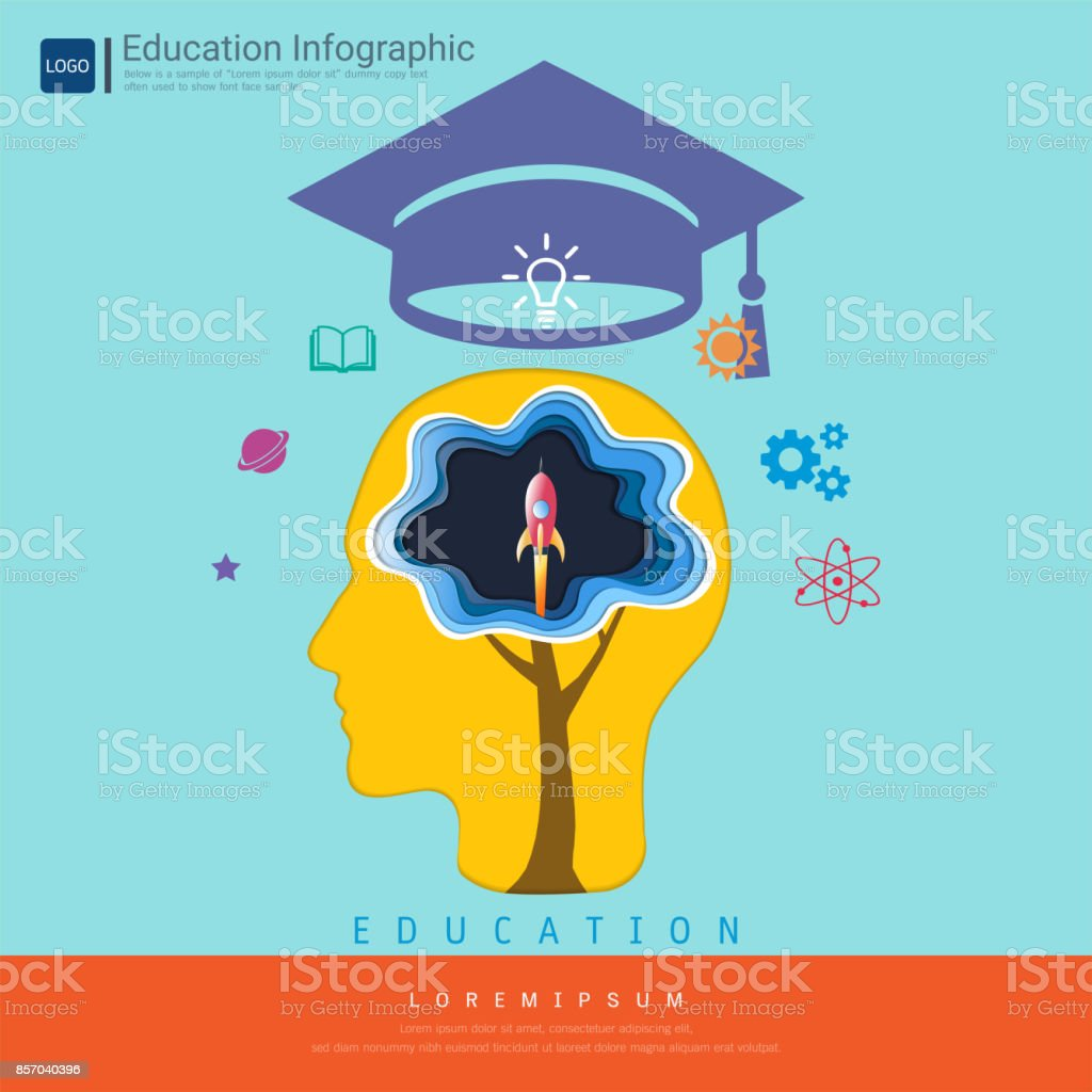 Education Infographic And Learning Concept Owl Teacher With