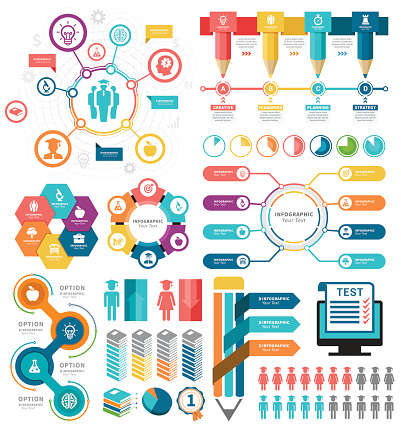 Vector illustration of the education infographic