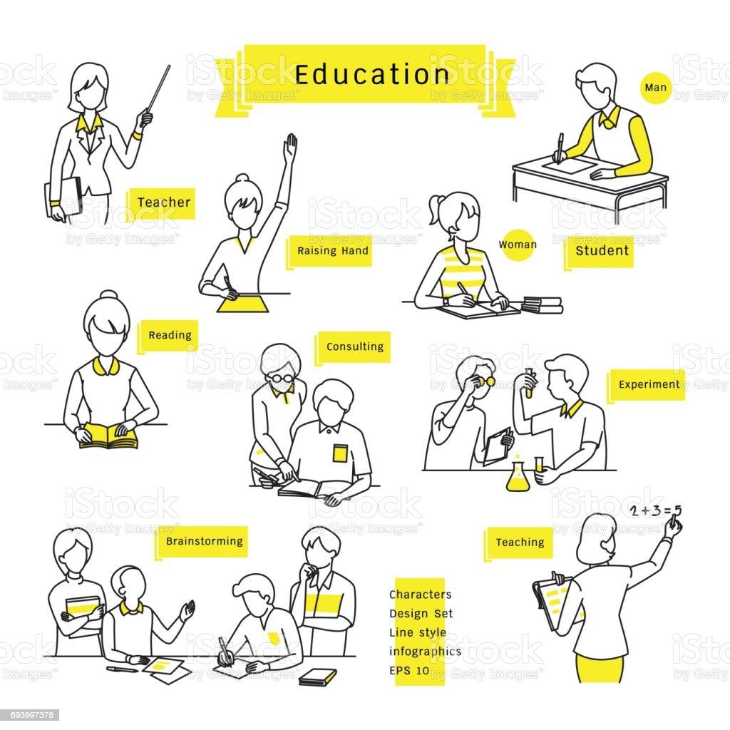 formation infographie ensemble - Illustration vectorielle