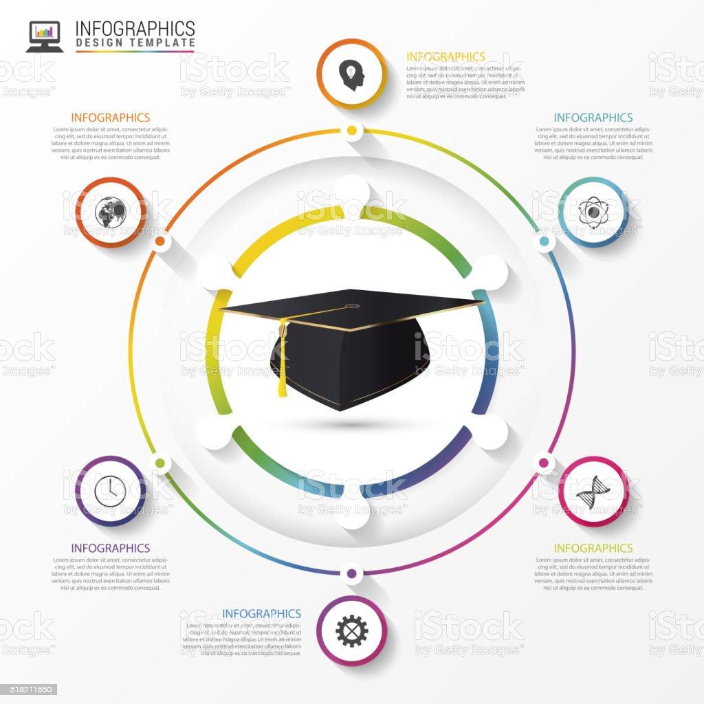 Educación Infografía Plantilla Académico Tapa Vector De De - Arte ...