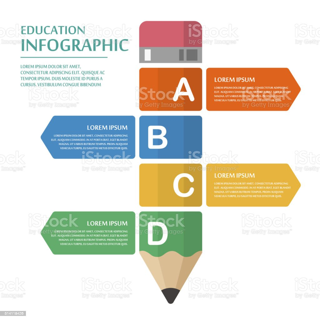 education infographic template design royalty-free stock vector art