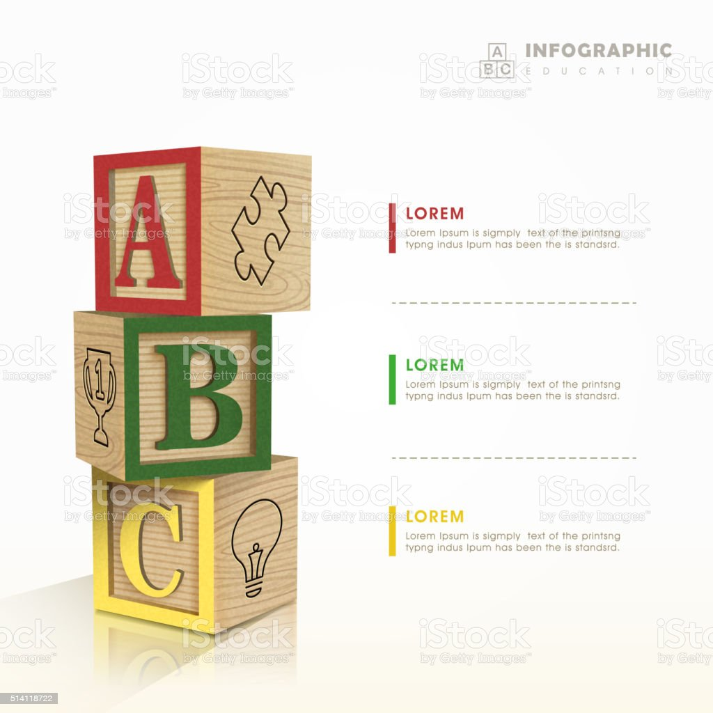 education infographic template design vector art illustration