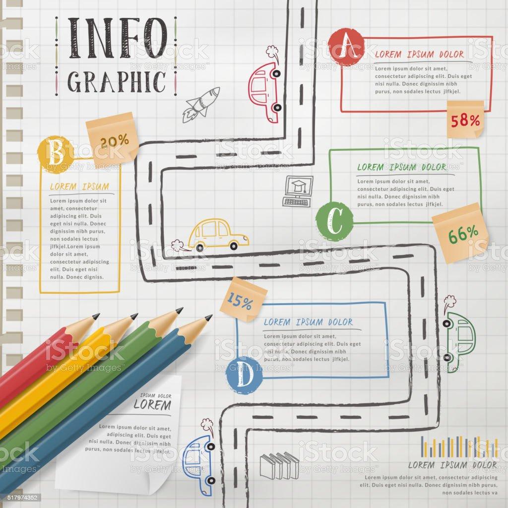 education infographic template向量藝術插圖