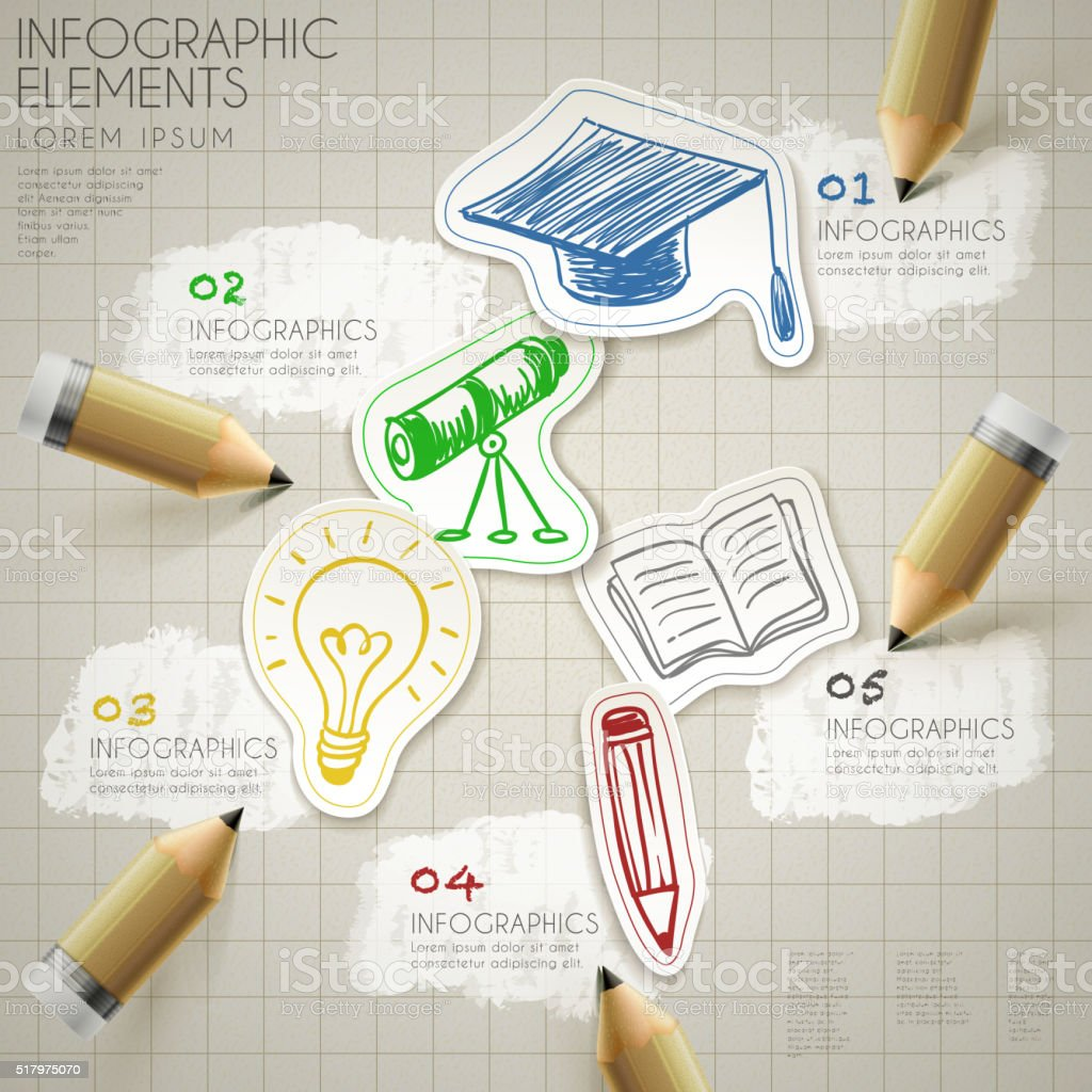 education infographic template vector art illustration