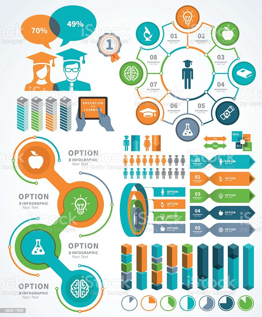 Education Infographic vector art illustration