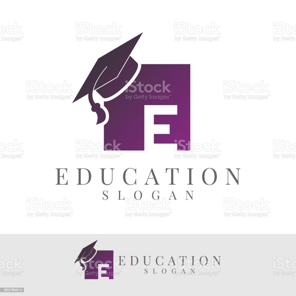 Bildung erster Buchstabe E Icon-design – Vektorgrafik