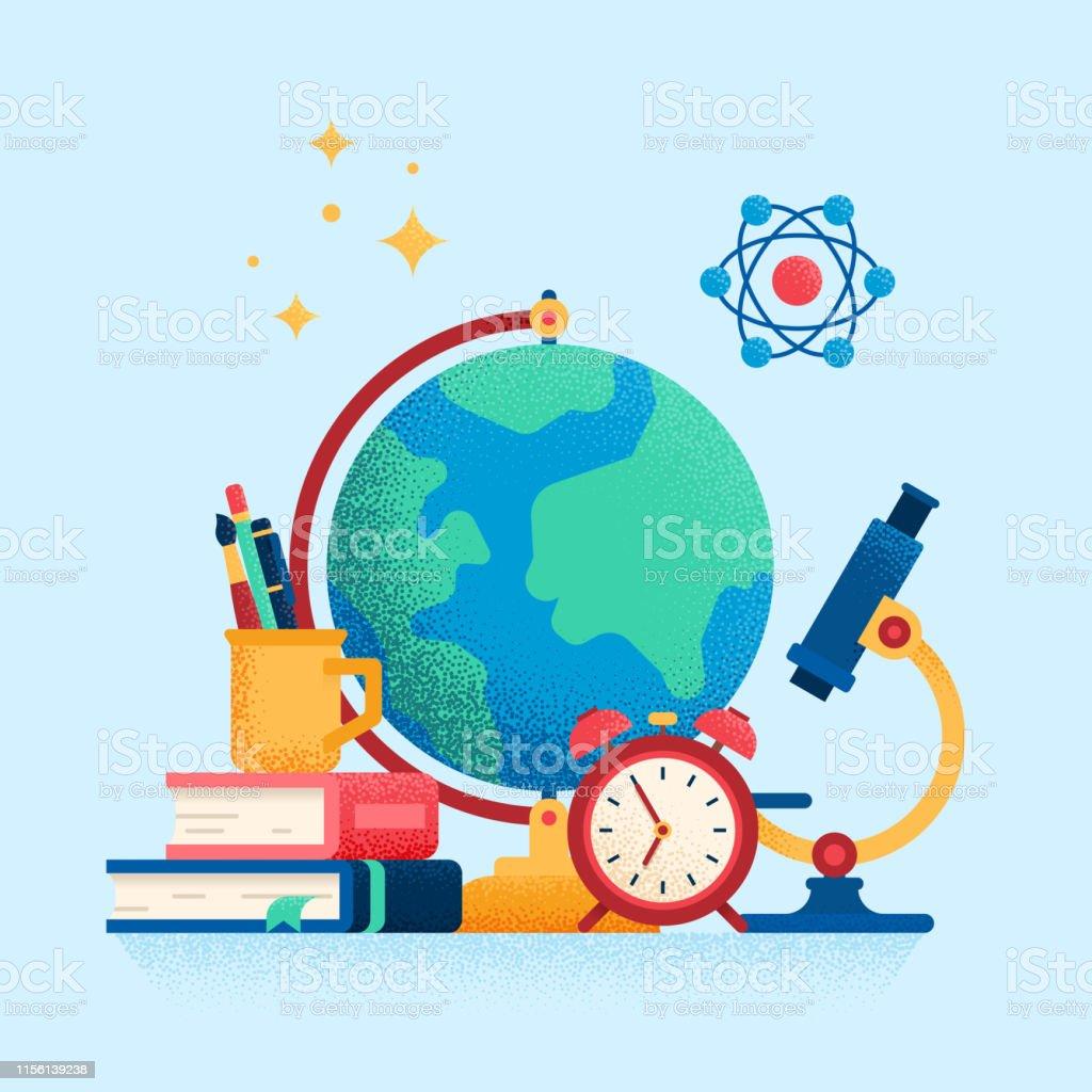 Education concept. Flat vector illustration.
