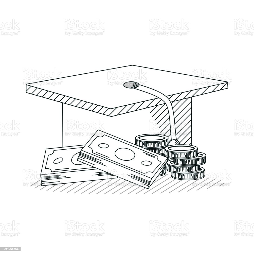 Education investment hand draw - Royalty-free Art stock vector