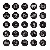 Education Line Icons Vector Collection