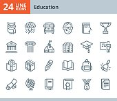 Education - line vector icons