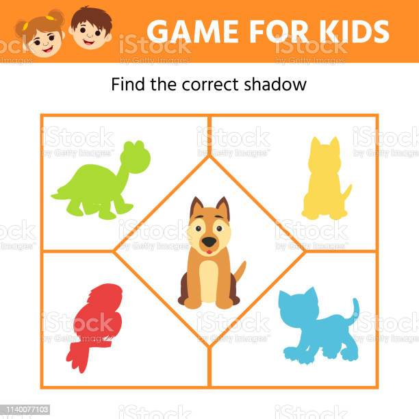 Education logic game for preschool kids kids activity sheet dog find vector id1140077103?b=1&k=6&m=1140077103&s=612x612&h=migwjthyo2nxf k1jmvxznntihetvtiznfpvgdif1xm=