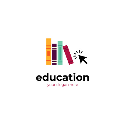 education logo template. Online courses,distance learning.