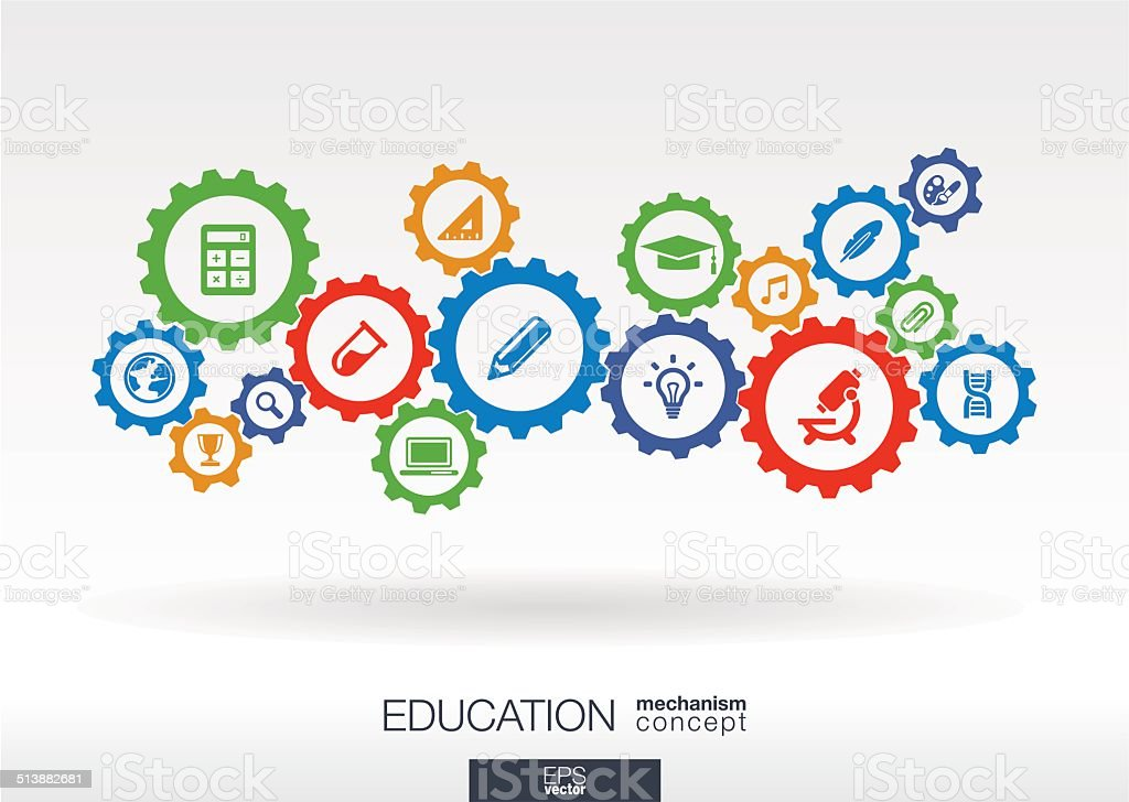 Education mechanism concept vector art illustration