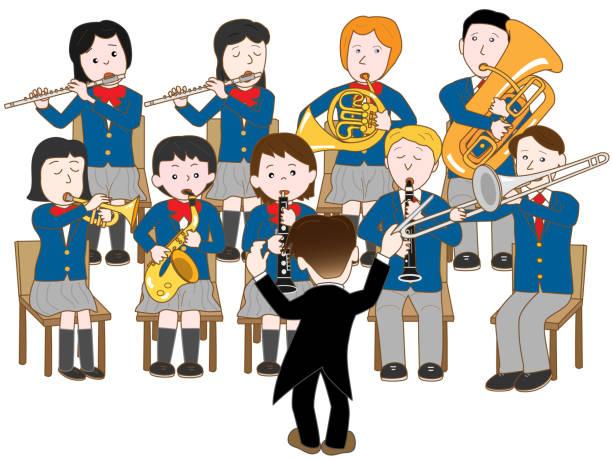 教育音楽 - 中学校点のイラスト素材/クリップアート素材/マンガ素材/アイコン素材