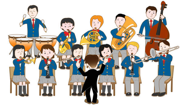education music - saks stock illustrations