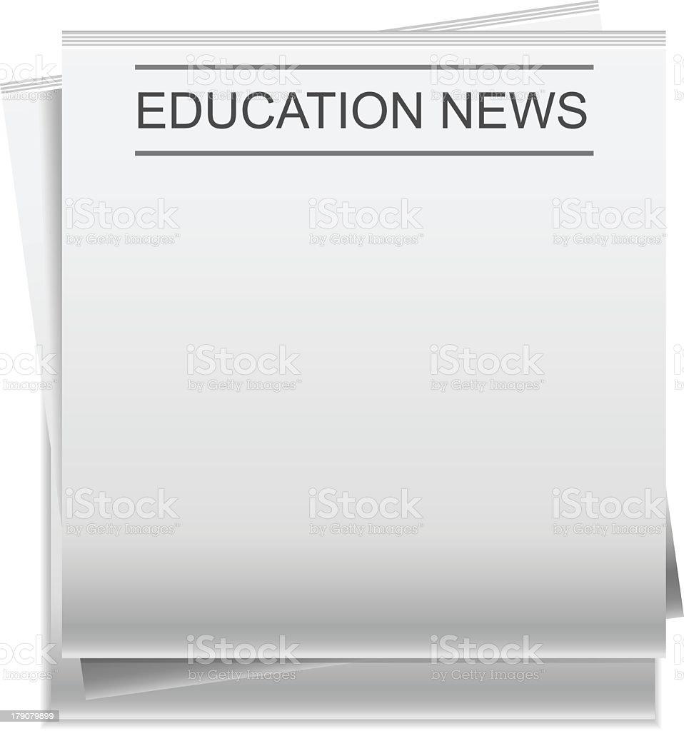 Education News royalty-free stock vector art