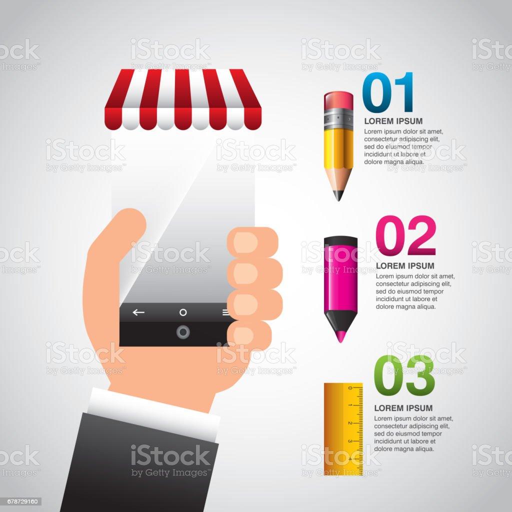 l'éducation en ligne infographie avec smartphone léducation en ligne infographie avec smartphone – cliparts vectoriels et plus d'images de affaires libre de droits