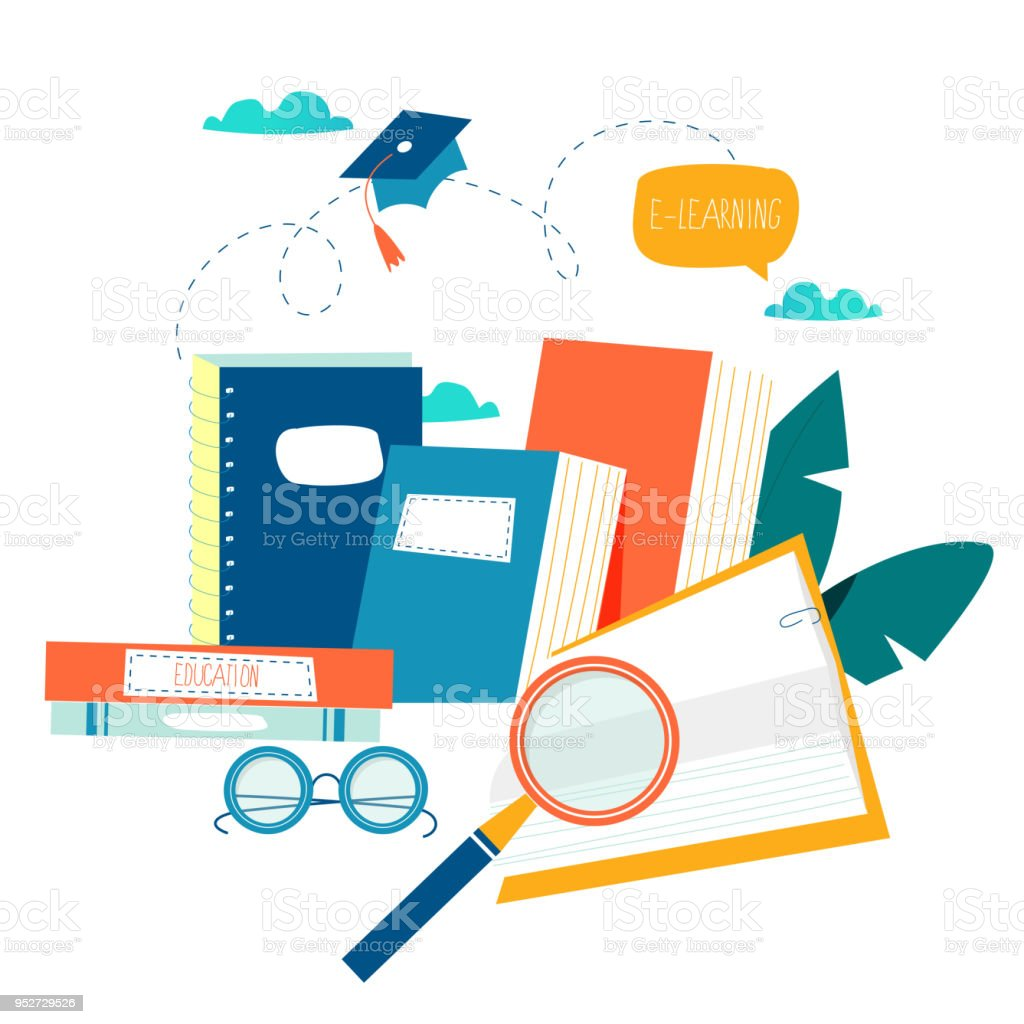 Education, online training courses, distance education vector...