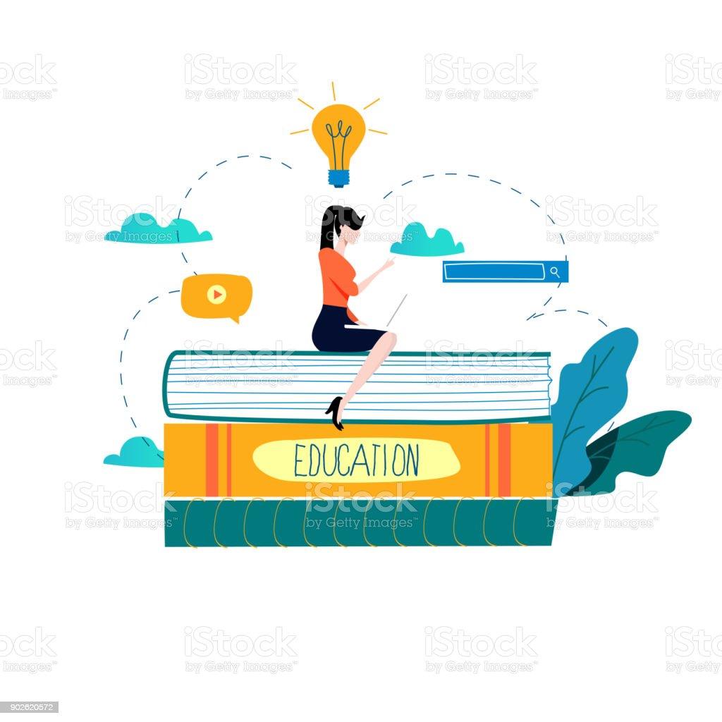 Education, online training courses, distance education vector illustration vector art illustration