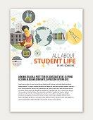 Education print template.