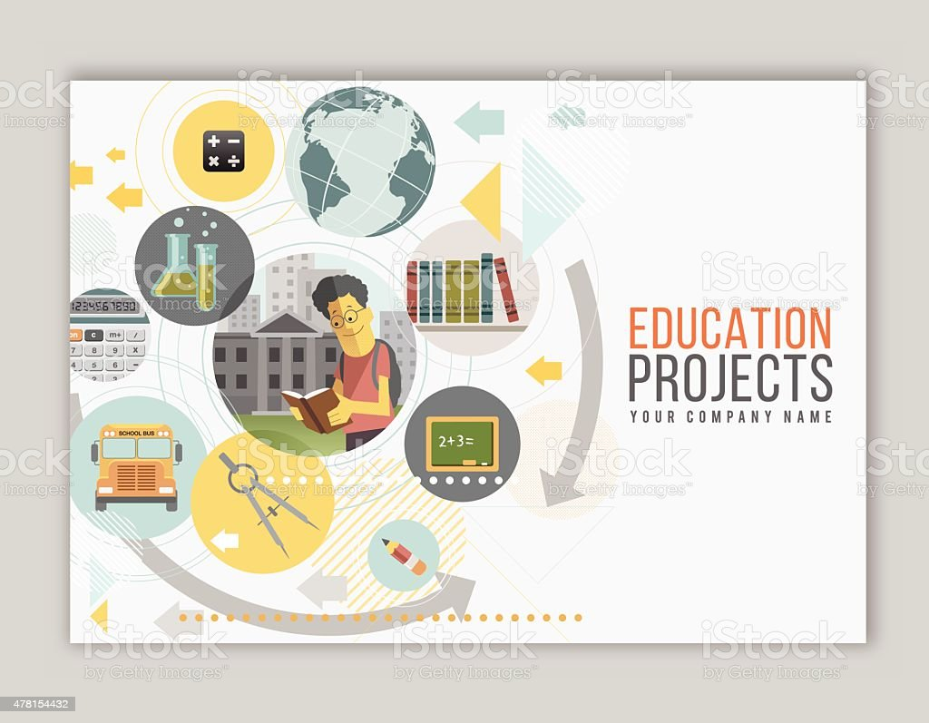 Education Project vector art illustration