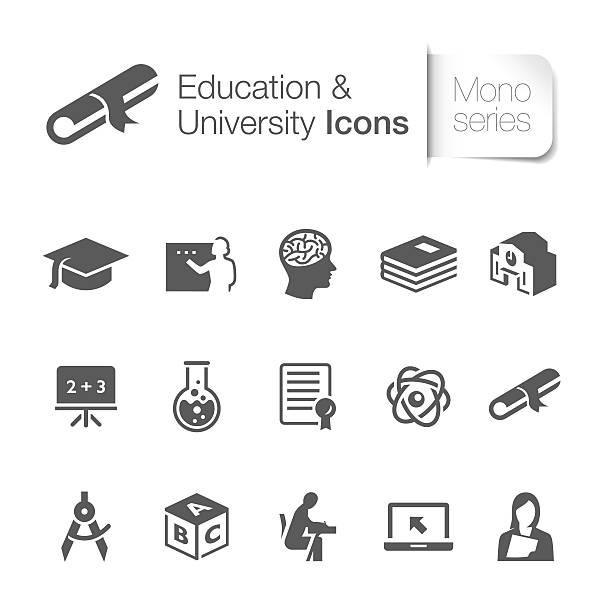 illustrations, cliparts, dessins animés et icônes de l'éducation icônes - professeur d'université