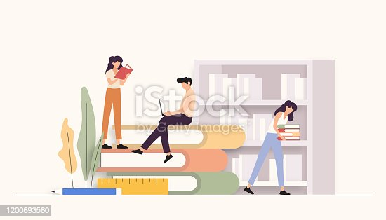 istock Education Related Vector Illustration. Flat Modern Design 1200693560