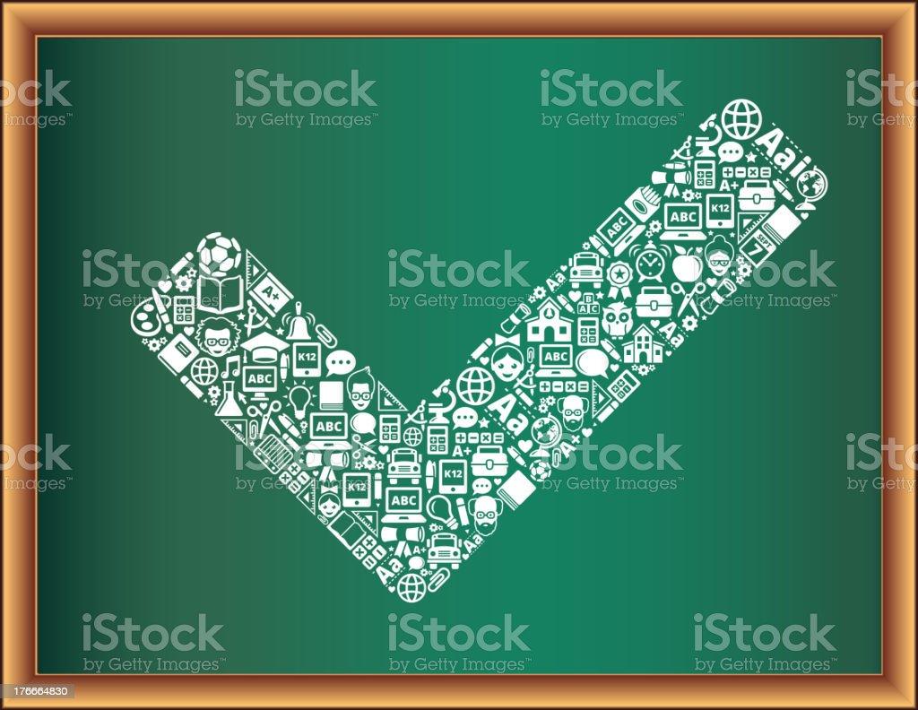 Educación & de la escuela y educación de símbolo pizarra Collection ilustración de educación de la escuela y educación de símbolo pizarra collection y más banco de imágenes de autobús de colegio libre de derechos