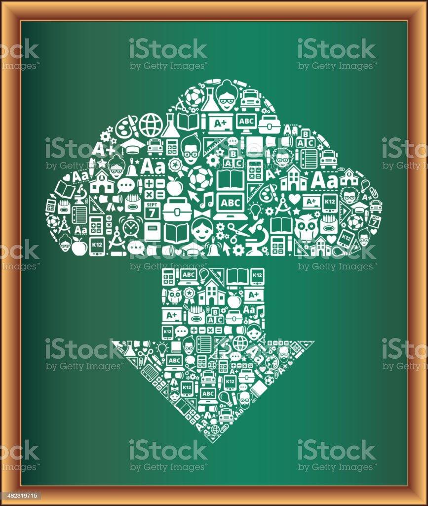 education & school and education Cloud Arrow Blackboard Collection royalty-free education school and education cloud arrow blackboard collection stock vector art & more images of alarm clock